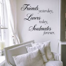Friends Yesterday, Lovers Today... ~ Wall sticker / decals
